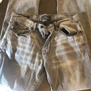 Lucky Brand 221 original straight gray jeans 32x30
